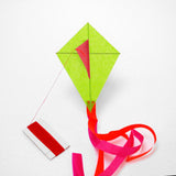 Green Diamond Kite with postcard
