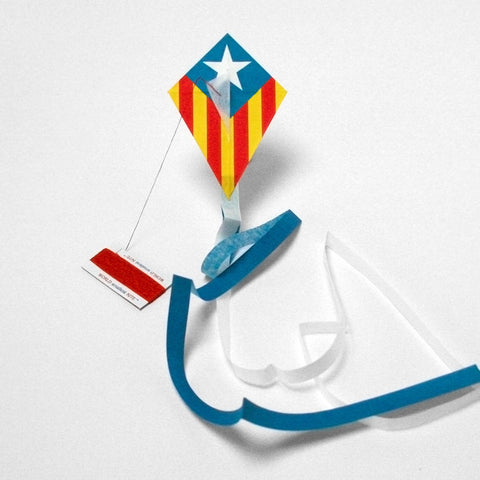 kite flag catalan