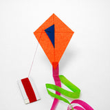 Orange Diamond Kite with postcard
