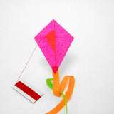 Pink Diamond Kite with postcard