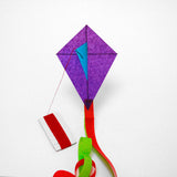 Purple Diamond Kite with postcard