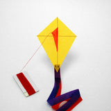 Yellow Diamond Kite with postcard