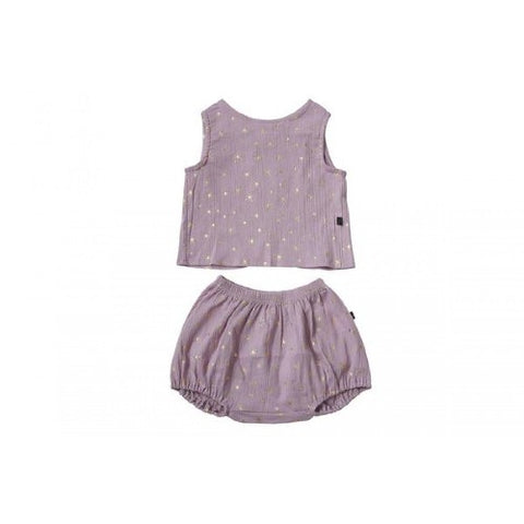 Petite Hailey Tank and Short Set Lavender