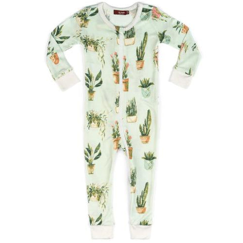 Milkbarn Potted Plant Zipper Pajama