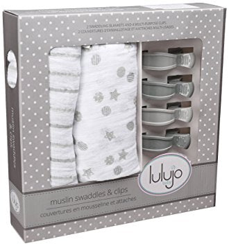 Mary Meyer Baby Muslin Swaddle with Clips