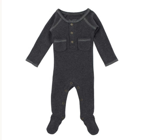 L'ovedbaby Organic Pocket Footed Overall