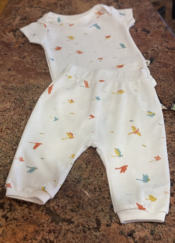 Red Caribou Onesie & Baggy Pants Set