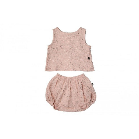 Petite Hailey Tank and Bloomer Set Pink