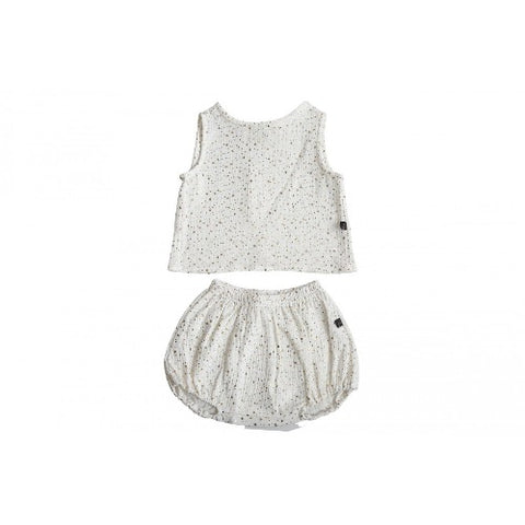 Petite Hailey Tank and Bloomer Set White