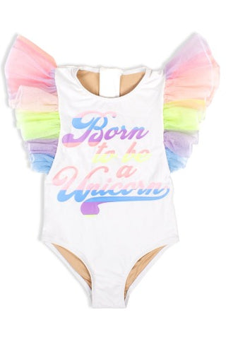 Shade Critters Tulle One Piece Born To Be A Unicorn