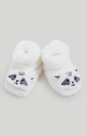 Snugabye Baby Neutral Raccoon Slippers