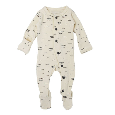 L'ovedbaby Footed Overall Beige Seas