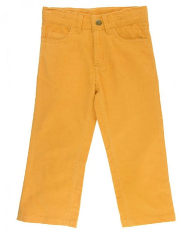 Rugged Ruffle Butts Straight Corduroy Pants Golden Yellow