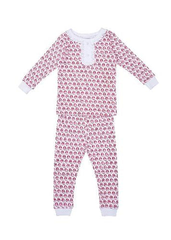 Lila and Hayes 2pc Girl Pajamas Set Santa