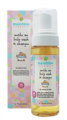 Mambino Organics Soothe Me Body Wash and Shampoo