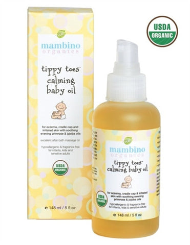 Mambino Organics Tippy Toes Calming Baby Oil 148ml / 5 fl oz