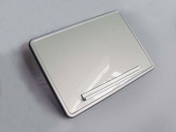 Tilting Aluminum Tray with Magnetic Shelf