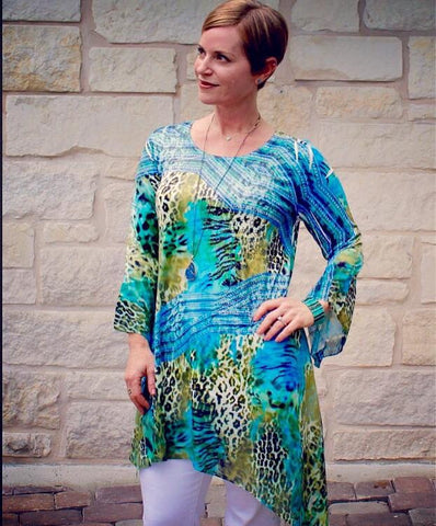 Slinky and Chiffon Tunic