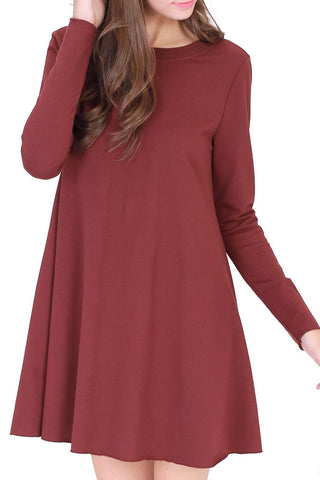 Raw Hem Dress