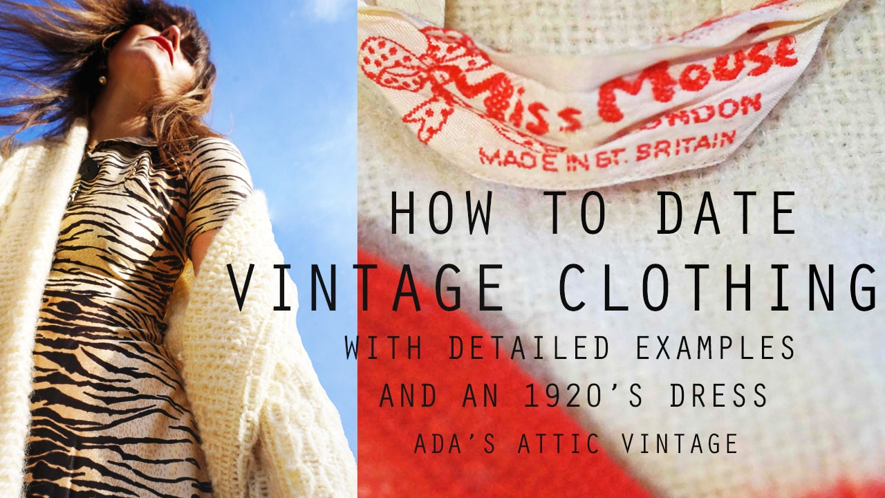 How To Date Vintage Clothing