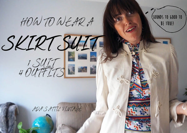 How To Wear A Skirt Suit - 1 Vintage Skirt Suit 4 Outfits