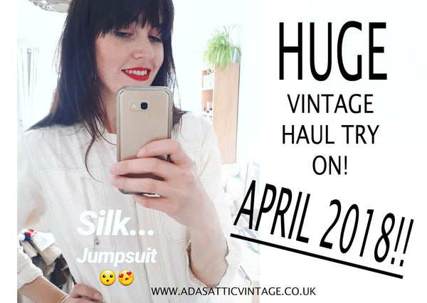 HUGE Vintage Haul Try On Video