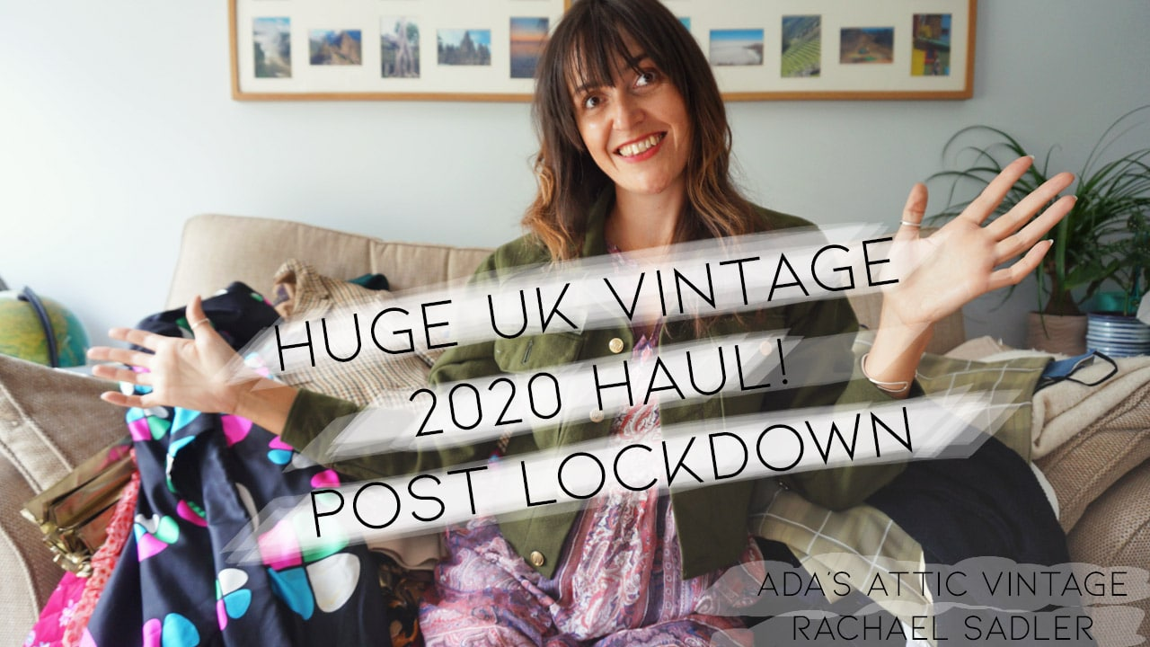 Huge UK Vintage Clothing Haul - Post Covid Lockdown - Ada's Attic Vintage