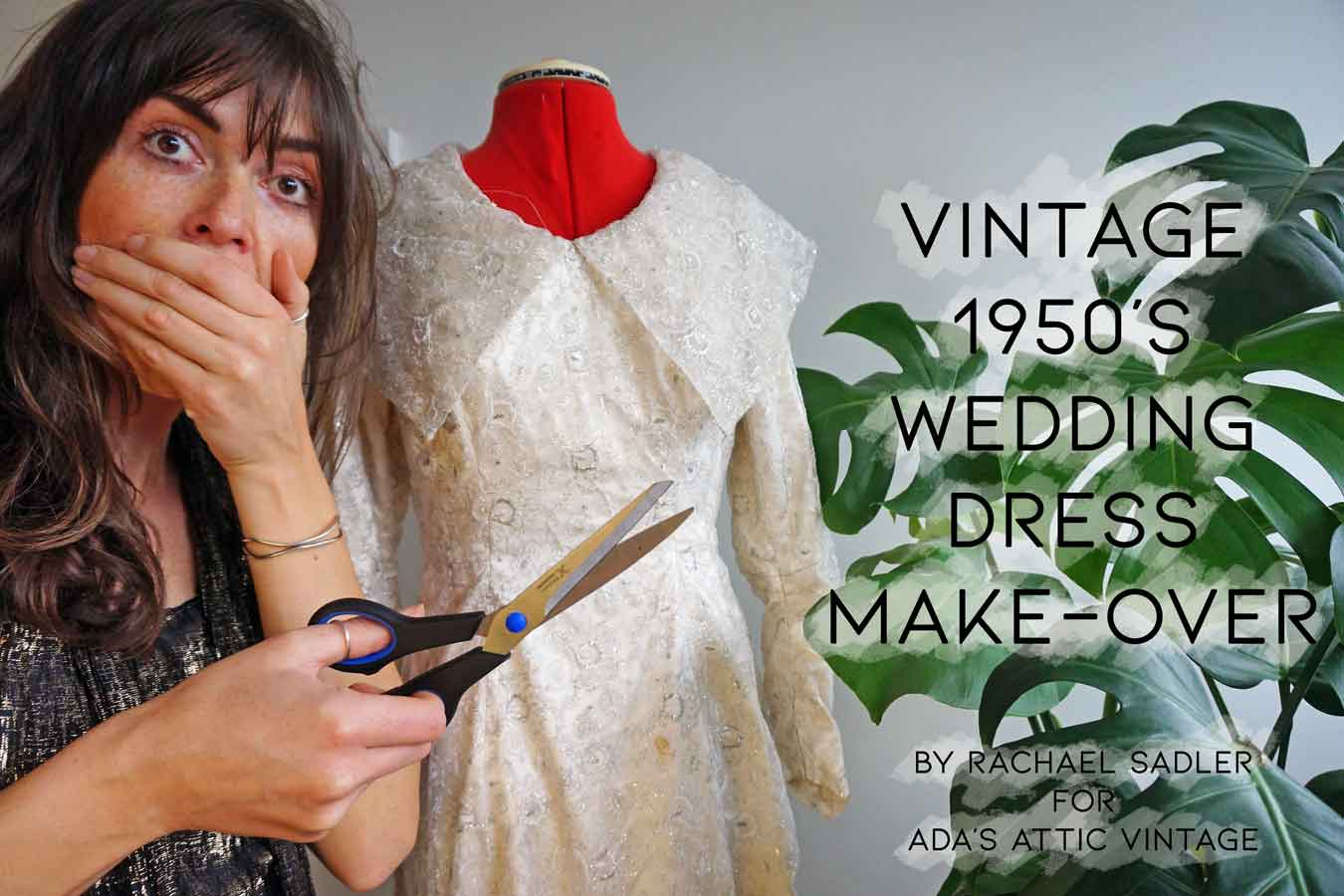 Vintage 1950s Wedding Dress Transformation