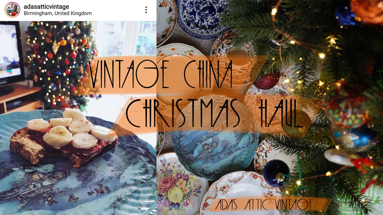 Vintage China Christmas Table Haul Video December 2019 - MERRY CHRISTMAS