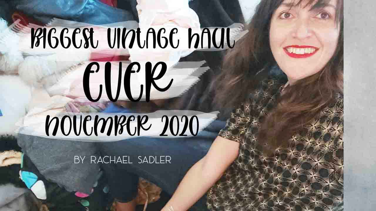 MY BIGGEST EVER ( 1 HOUR) VINTAGE CLOTHING HAUL- NOV 2020