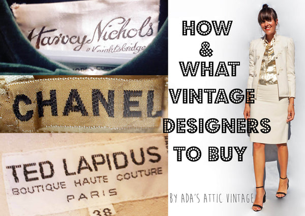 How To Buy Designer Vintage Clothing