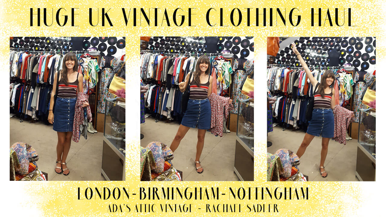 HUGE UK VINTAGE CLOTHING HAUL JULY 2019