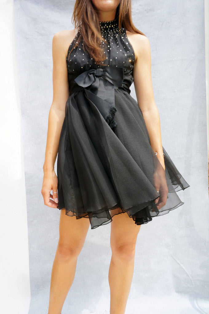 Black Saks Firth Avenue Cocktail Dress - Ada's Attic Vintage -
