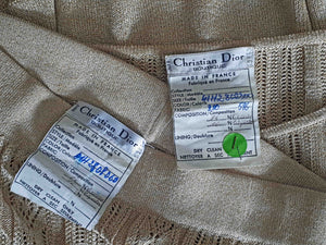 Gold Christian Dior Trouser Suit - Ada's Attic Vintage - 9- 1970s vintage christian dior numbered label