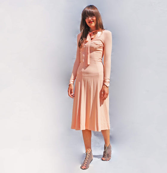 Ossie Clark Pink Boho Dress