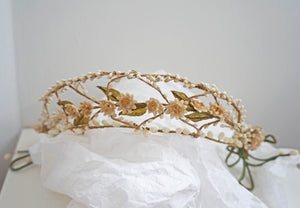 Vintage 1920s Bridal Wax Flower Flapper Headpiece Set  - Ada's Attic Vintage - 2