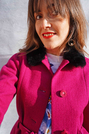 Vintage 80s Pink Business Skirt Suit - Ada's Attic Vintage - 7