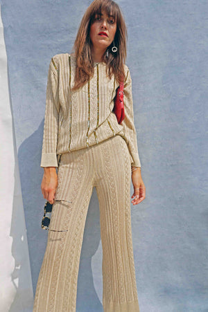 Gold Christian Dior Trouser Suit - Ada's Attic Vintage -