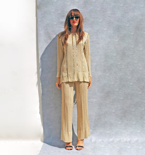 Gold Christian Dior Trouser Suit - Ada's Attic Vintage - 5