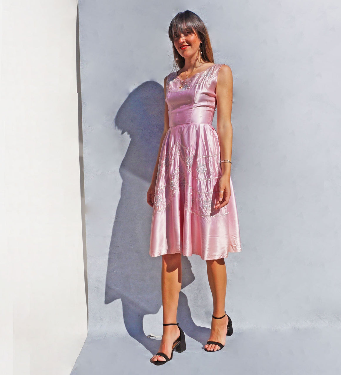 Vintage 1950s Short Pink Ombre Bridesmaid Dress - Ada's Attic Vintage -