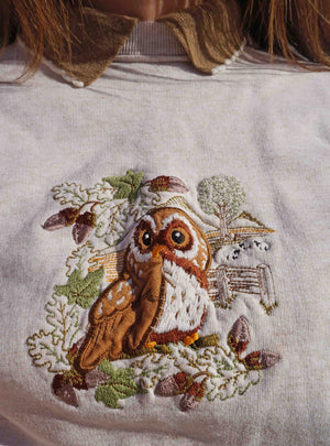 Vintage 90s Embroidered Owl Sweater - Ada's Attic Vintage - 3