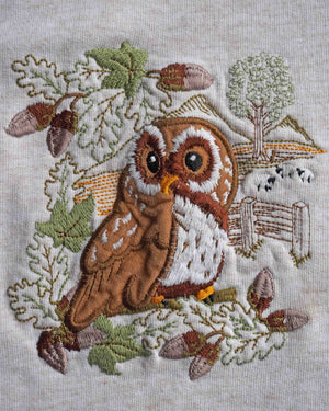 Vintage 90s Embroidered Owl Sweater - Ada's Attic Vintage - 6