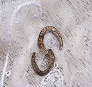 1935 Silver Good Luck Wedding Horseshoe - Ada's Attic Vintage - 4
