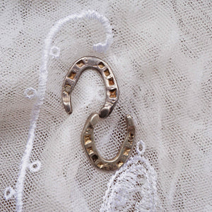 1935 Silver Good Luck Wedding Horseshoe - Ada's Attic Vintage - 5