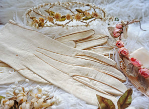 Vintage 1920s Bridal Wax Flower Flapper Headpiece Set  - Ada's Attic Vintage - 1