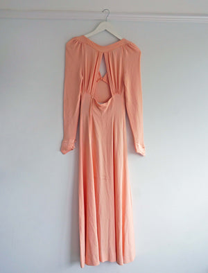 Vintage Ossie Clark Open Back Pink Dress - Ada's Attic Vintage - 9