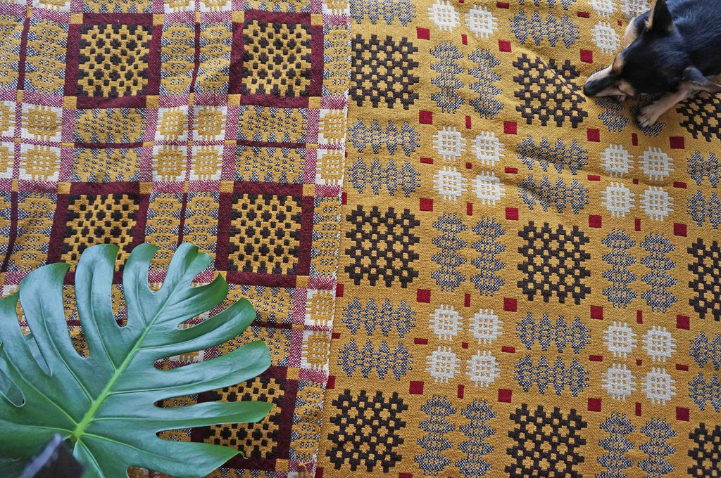Vintage Yellow Welsh Blanket