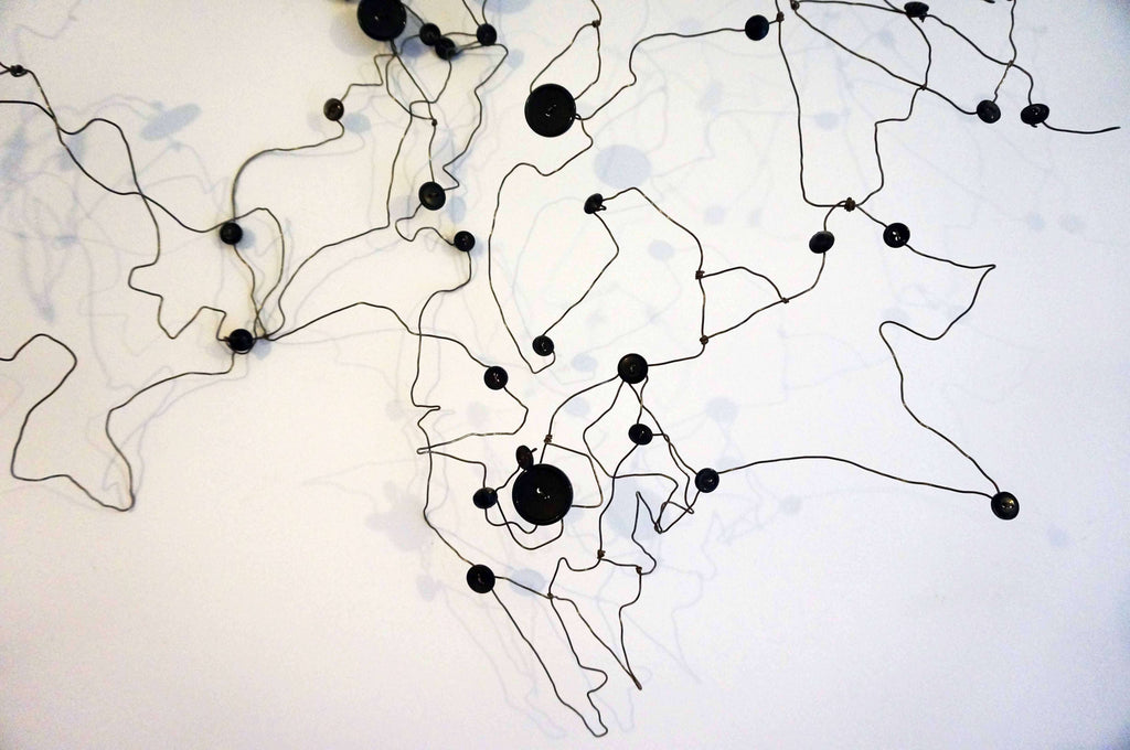 Abstract Wire Wall Art - Travel Inspired Art - Wire Wall Art- Industrial Art - 10