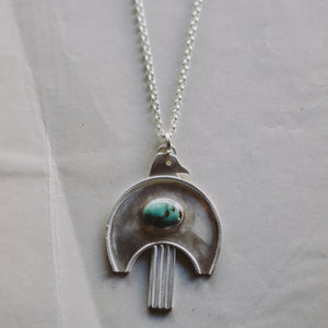 FLK # 115 Moderne Bird Totem Necklace
