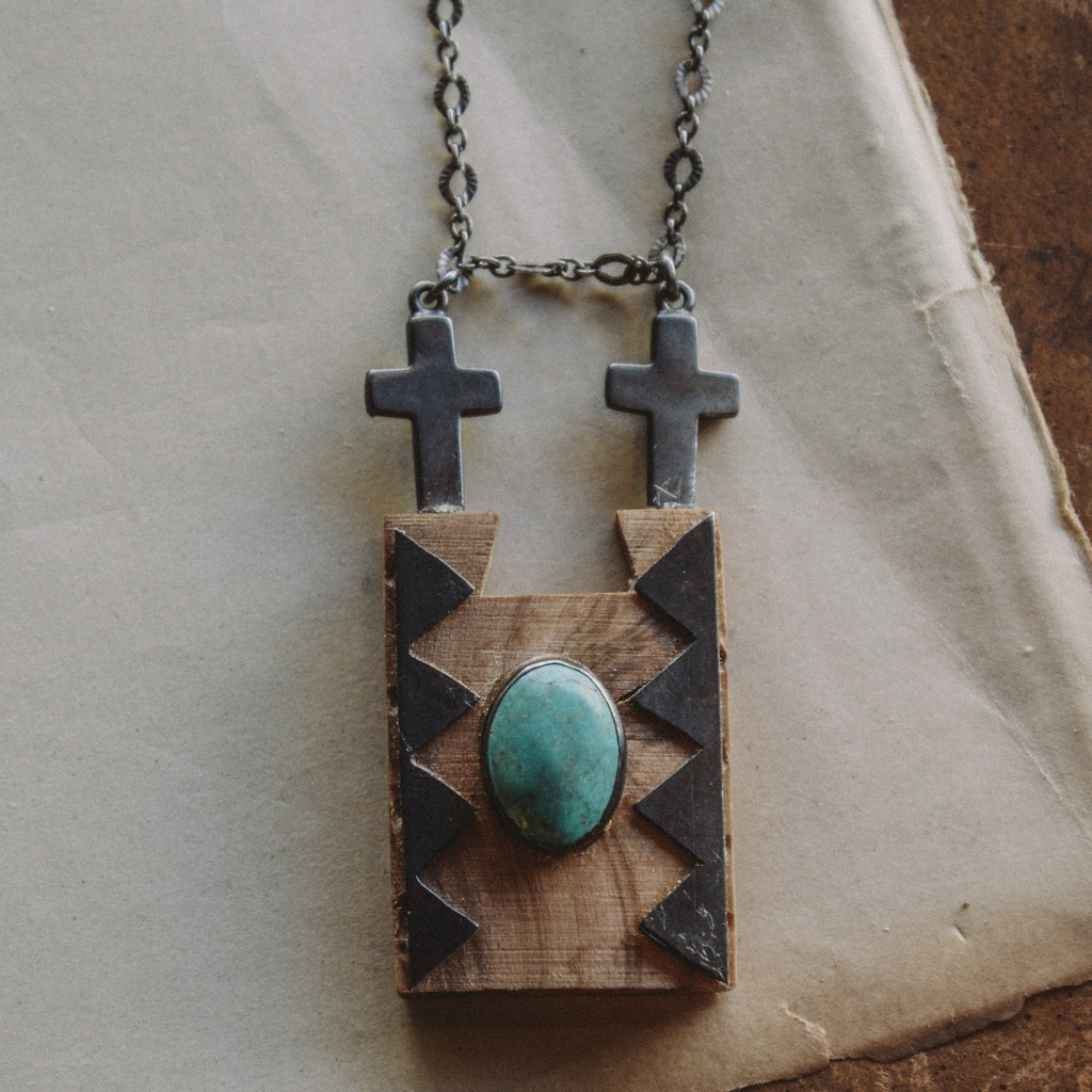 FLK # 112 Double Cross Necklace